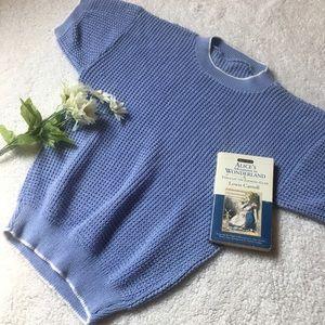❄️💙Vintage waffle knit short sleeve sweater💙❄️
